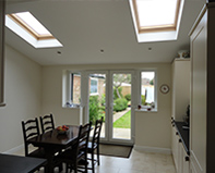 Single storey rear extension with feature vaulted ceiling – Selston